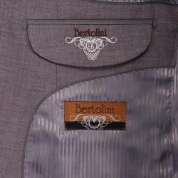 Bertolini Mens Light Gray Wool/Silk Blend 2 button Suit