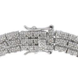 Sterling Silver 2ct TDW Diamond 3 strand Link Bracelet (I J, I2 I3