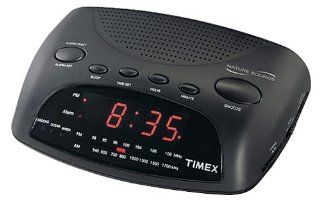 Timex T234B Nature Sounds Alarm Clock Radio (Black