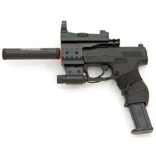 Spring James Bond Pistol FPS 150 Red Dot Silencer Airsoft Gun