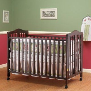 Orbelle Lisa Full Size Folding Crib   Cherry Baby