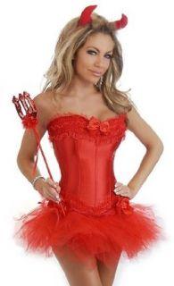 Daisy Corsets 4 PC Sexy Devil Costume: Clothing