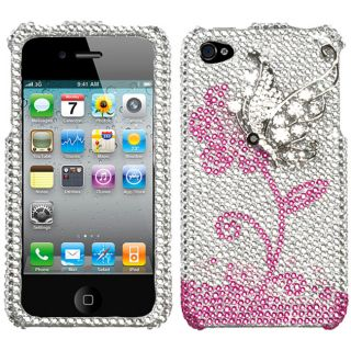 Apple Iphone 4/4S Flying Butterfly Design 3D Premium Rhinestone