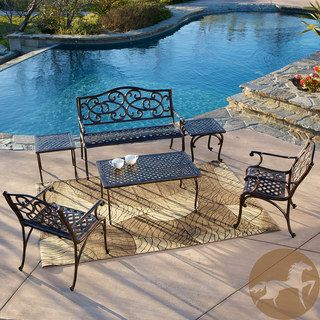 Christopher Knight Home McKinley 6 piece Cast Seating Set