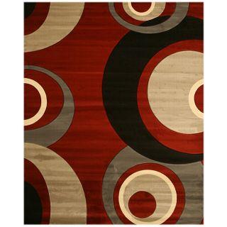 Dunes Red/ Grey Rug (710 x 910)