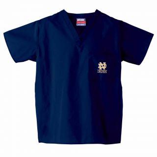 Gelscrub Unisex Navy Notre Dame Irish Scrub Top