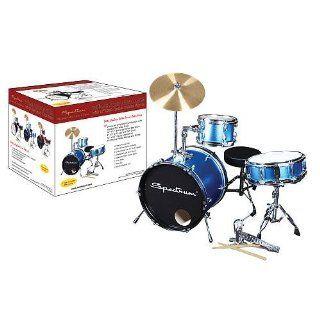 Spectrum Electric Three Piece Junior Drum Kit in Blue
