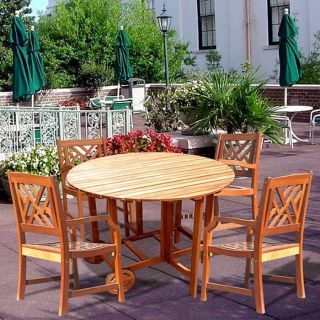 Casimir Outdoor Round Table and Wood Armchair