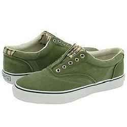 Sperry Top Sider Striper Laceless CVO Salt Washed Green
