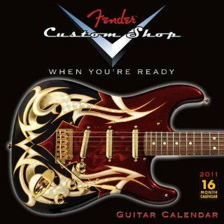 Fender Custom Shop Guitar 2011 Wall Calendar Office