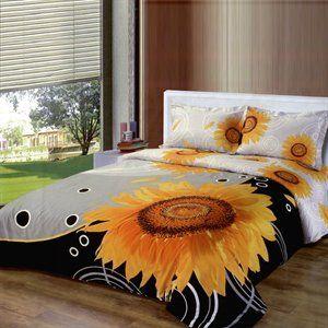Le Vele Sunflower   Duvet Cover Bed in Bag   Full / Queen