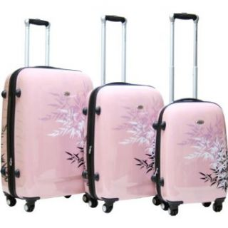 CalPak Bangkok 3 Piece Exp. Hardside Luggage Set (Pink