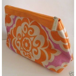 Clinique Cosmetic Makeup Bag orange and Purple Everything