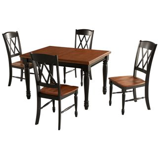 Monarch Rectangular Dining Table and 4 Double X back Chairs