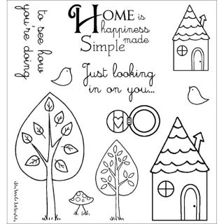 Darcies Grandmas House Cling Mounted Rubber Stamps