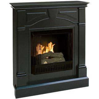 Macon Black Gel Fuel Fireplace