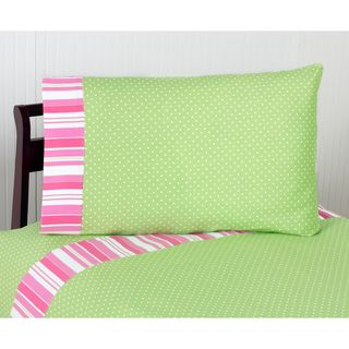 Sweet JoJo Designs Olivia Pink and Green Bedding Collection Sheet Set