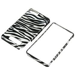 Silver/ Black Zebra Case for Motorola Droid Xtreme/ Droid X