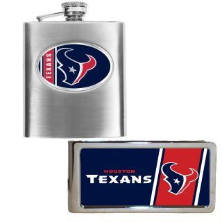 Houston Texans Hip Flask and Money Clip Set