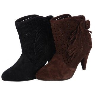 Chinese Laundry Womens Kingwood Fringed Ankle Boots FINAL SALE