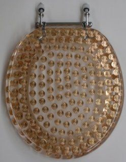 REAL U.S. PENNIES COINS MONEY LUCITE RESIN TOILET SEAT