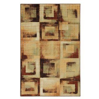 Townhouse Rugs Boxed In Brown 8 Feet by 10 Feet Area Rug