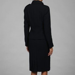 Tahari Womens Navy Military Inspired Two piece Skirt Suit