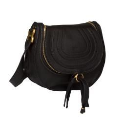 Chloe Marcie Black Leather Satchel Bag