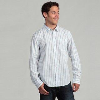 Calvin Klein Jeans Mens Striped Woven Shirt