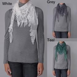 Journee Collection Womens Distressed Lightweight Scarf