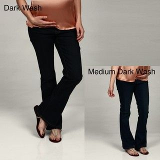 Oh! Mamma Maternity Under the Belly Fit N Flare Denim Jeans