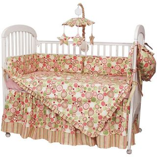 Hoohobbers Retro Circles 4 piece Crib Bedding Set