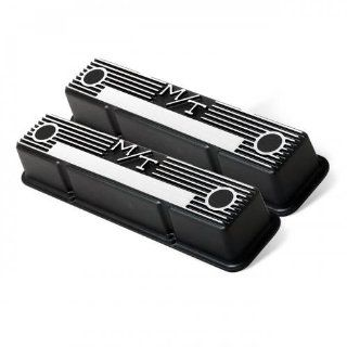Holley 241 83 M/T Black Krinkle Valve Cover for SB Chevy :
