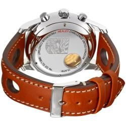 Frederique Constant Mens Healey Automatic Chronograph Leather Watch