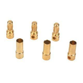 e flight A241 Gold Bullet Connector Set 3.5mm (3) Toys