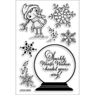 Stampendous Snowglobe Kiddo 4x6 inch Perfectly Clear Stamps