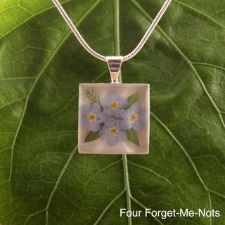Forget Me Not Square Necklace (Mexico)