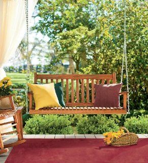 Weather Resistant Eucalyptus Classic Slatted Outdoor Swing