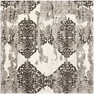 Deco Inspired Beige/ Light Grey Rug (6 Square)