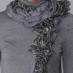 Journee Collection Womens Zebra Print Detail Scarf