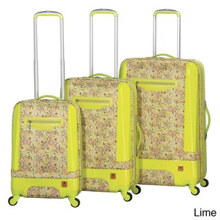 Heys USA Hybrid Painterly 3 piece Spinner Luggage Set