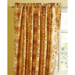 French Print Luxe Dupioni Silk 84 inch Curtain Panel