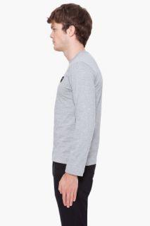 Comme Des Garçons Play  Grey Black Logo Shirt for men