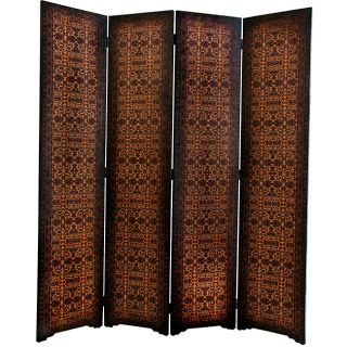 Wood and Faux Leaher 6 foo opean Room Divider (China)