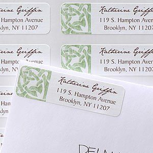 Celtic Knot Personalized Return Address Labels Office