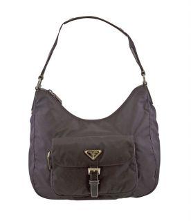 Prada Dark Blue Nylon Hobo Handbag