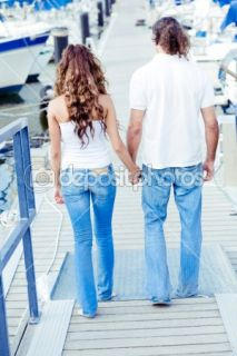 Rear view of couple walking down  Stock Photo © Ribkov Dagim
