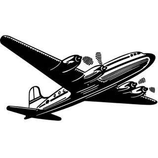 Tim Holtz Airliner Red Rubber Stamp