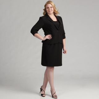 Jessica Howard Womens Black 2 piece Sheath Dress FINAL SALE