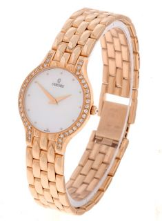 Concord Les Palais Womens 14k Gold Diamond Watch